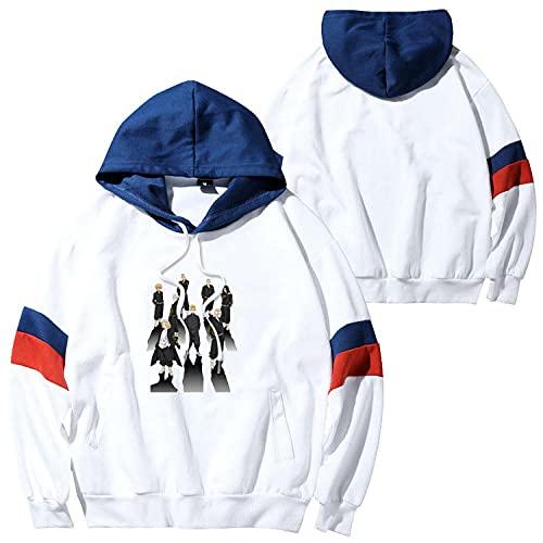 FIHTRY Anime Tokyo Revengers Cosplay Hoodies Sudaderas con Capucha Cozy Tops Jerseys-A_XXS