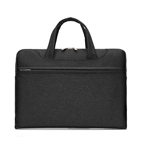 QiuKui Tab Cover For Dell Xiaomi Asus Lenovo, Portable Laptop Bags Nylon Waterproof Sleeve Handbag Notebook Bag For Dell Xiaomi Asus Lenovo 13 14 15 13.3 15.6 Inch (Color : Black, Size : 14 inch)