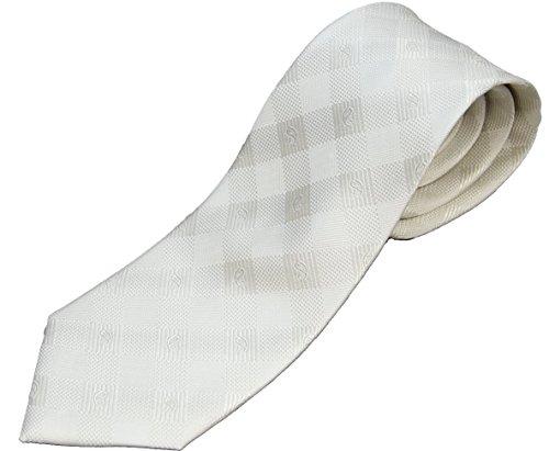 フォーマル シルク 日本製 シルバー系ネクタイ ドット 結婚式/披露宴/礼装/冠婚葬祭 ((1)ストライプ)