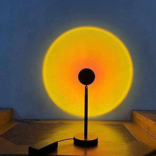 Luz de proyección de puesta de sol con luz giratoria y de carga de arco iris moderna para dormitorio (color: lámpara de pie luz de puesta de sol) ZHNGHENG (color: lámpara de pie luz de puesta de sol)
