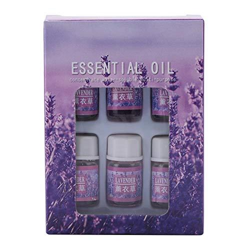BITHEOUT Aceite Esencial fragante, Aceite Esencial Natural, 6 Piezas para aliviar la Fatiga y Mejorar el sueño(Lavender)