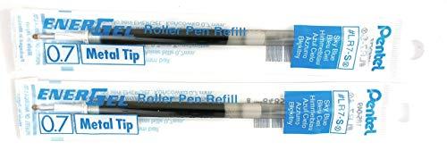 2 Pk Pentel LR7-S EnerGel Refills, 0.7 mm Medium, Sky Blue