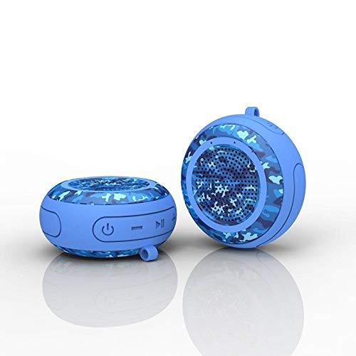 IP67 5W Bass Speaker Pool Zwemmende TWS Bluetooth-luidspreker draadloze waterdichte stereo-installatie voor TF Speake buitenshuis, Blue2