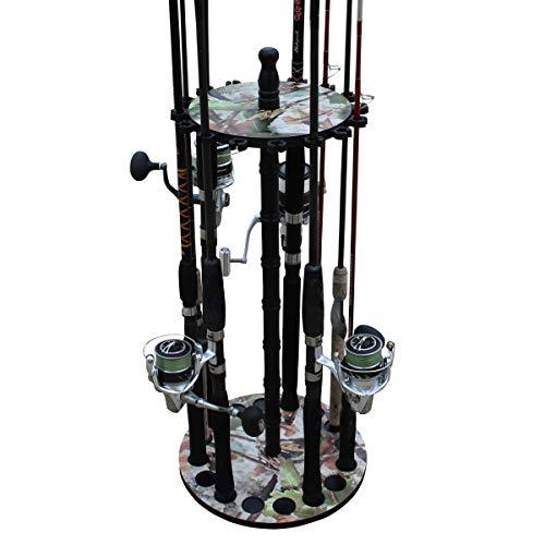 Rush Creek Creations 16 Round Fishing Rod/Pole Storage Floor Rack...