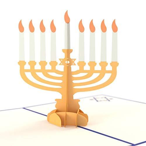 Lovepop Hanukkah Menorah 3D Art Card
