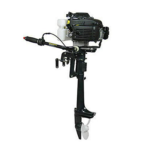 Best Prices! Boat Motor Engine, 4 Stroke 4HP Outboard Motor 52CC Boat Engine with CDI Air Cooling Sy...