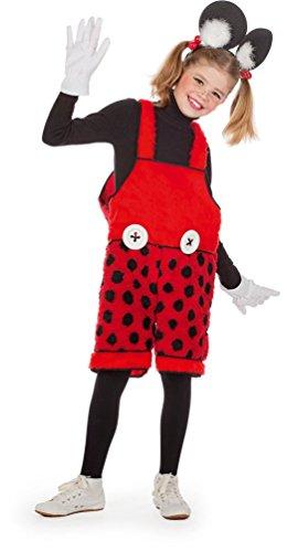 Karneval-Klamotten Mickey Mouse Kostüm Kinder Latzhose Mickey Maus-Kostüm Karneval Kinder-Kostüm
