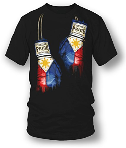 Wicked Metal Philippines Boxing Shirt, Philippines Pride Black