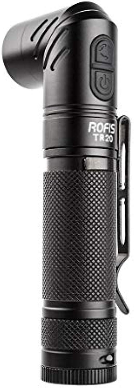 AmyGline LED Taschenlampe 90 Grad drehbare Taschenlampe ROFIS TR20 1100LumensXP L HI V3 LED 90 Grad Kopfdrehung Taschenlampe