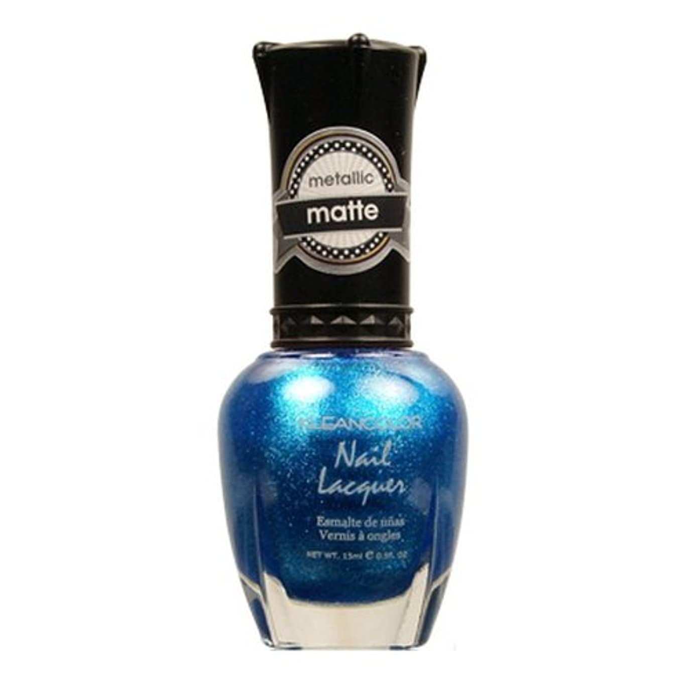 ゴール聖職者ペフ(6 Pack) KLEANCOLOR Matte Nail Lacquer - Blue Mist (並行輸入品)