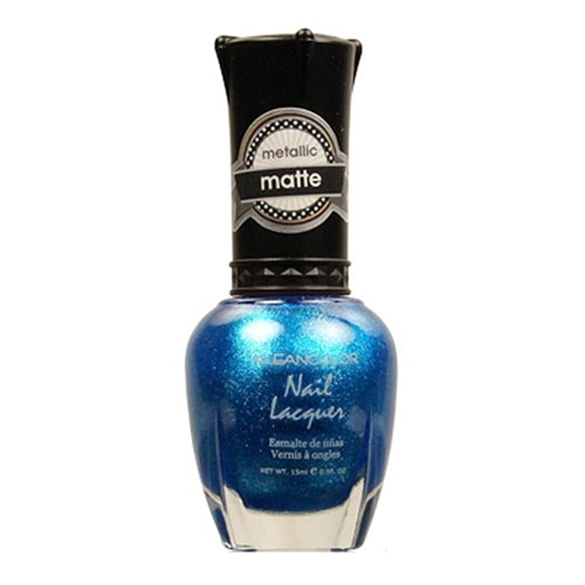 交通失われた辛な(3 Pack) KLEANCOLOR Matte Nail Lacquer - Blue Mist (並行輸入品)