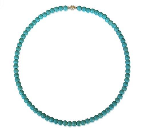 Vifaleno Collare de Turquesa, Natural, Azul, esférico, 8mm