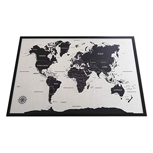 cuadro mapa mundo de la marca Alcornoque Store