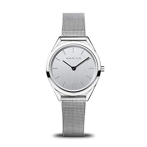 BERING Unisex Analog Quarz Ultra Slim Collection Armbanduhr mit Edelstahl Armband und Saphirglas 17031-000