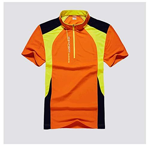 pour des Hommes Gym T-Shirt D'entraînement Dessus à Séchage Rapide Respirant Manches Courtes Wicking Fitness Soie De Glace Col Rond T-Shirt De Course Été T-Shirt De Sport,A,L