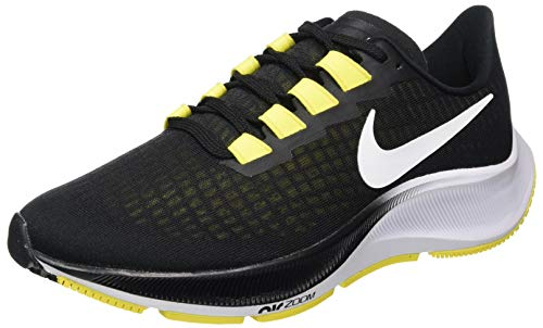 Nike Men's Air Zoom Pegasus 37 Sneaker, Black White Opti Yellow, 10 UK