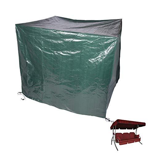 Laneetal Schutzhaube Hollywoodschaukel Gartenschaukel Schutzhülle Gartenmöbel PE Abdeckplane mit Klettverschluss 215x150x150cm Grün