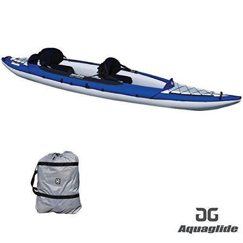 Aquaglide Canotto Gonfiabile Kayak Columbia Two XP Canoa, 409cm x 91cm L B Aria Boot 2Persone