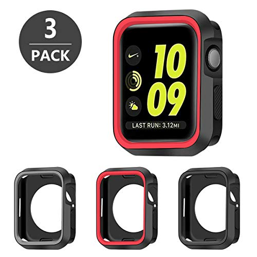 SYOSIN 3 Pack Cover per Apple Watch 44mm Resistente Custodia Silicone per Apple Watch 44mm Serie 5 / Serie 4