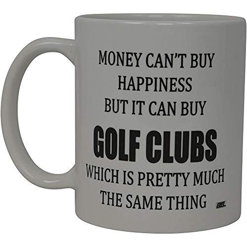 Beste golfkoffiekop-geld kan geluk niet kopen, maar het koopt Golfclub nieuwigheid schalen-Witz-grote Gag-cadeau-idee