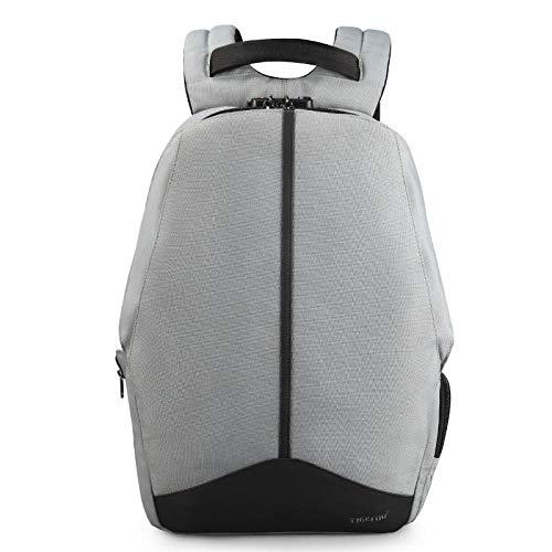 QueenAILSA anti-rugzak rits TSA-slot geen sleutel design mannen USB 15,6 inch laptop rugzak schooltas student college rugzak
