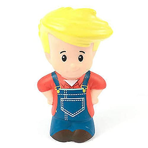 Replacement Figure for Fisher-Price Little People Animal Friends Farm ~ CHJ51 - Includes 1 Replacement Figure Farmer Boy Eddie