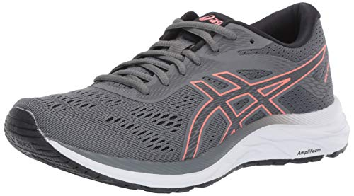 ASICS Women's Gel-Excite 6 Running Shoes, 9W, Steel Grey/Papaya