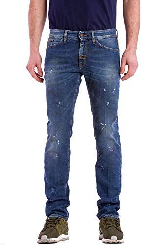 Meltin'Pot - Jeans Maner D0156-AB320 für Mann, Tapered Stil, Slim fit, normaler Bund, mit farbflecken