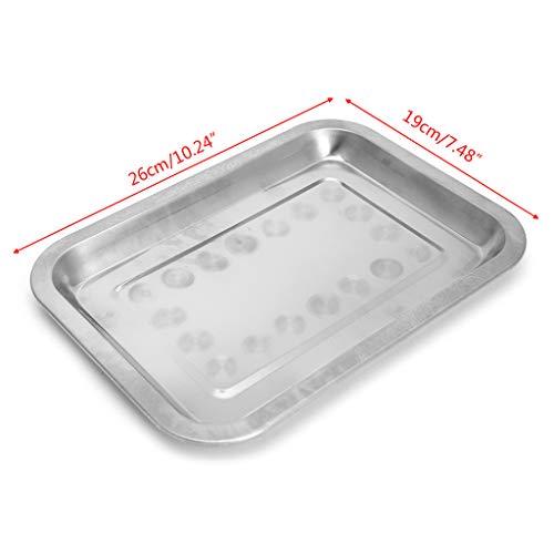 Only Y Rechteckiger Lebensmittelbehälter/ Grillplatte/ Backblech aus Edelstahl, stapelbar, Edelstahl, rostfrei, 01, 01,02,03,04,05