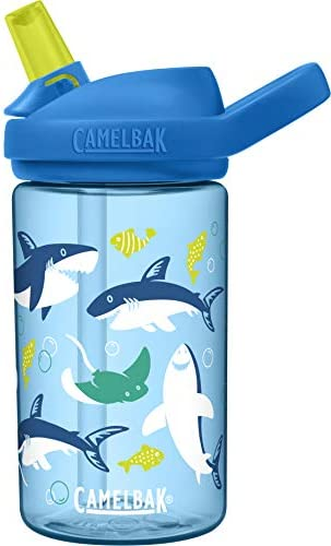 CamelBak eddy 14 oz Kids Water Bottle with Tritan Renew Straw Top 14oz Sharks and Rays product image