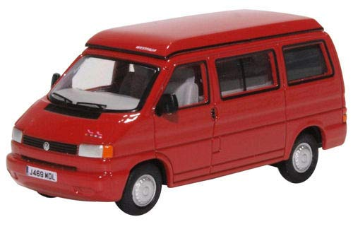 Oxford 76T4001 VW T4 Westfalia Camper rot Maßstab 1:76 Modellauto