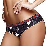 S - Bragas de mujer para mujer, bragas de Halloween Specter Bikini Panty Stretch Soft Hipster Bragas, multicolor, XL