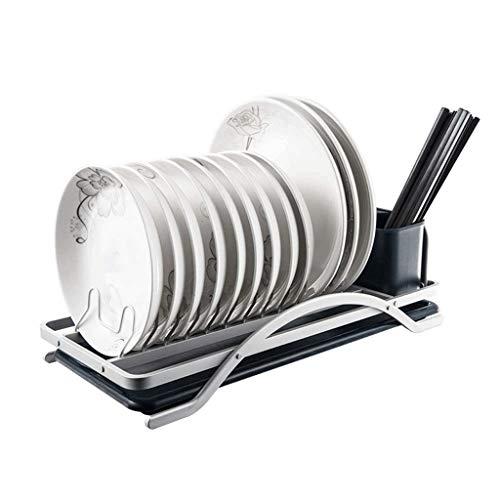 WALNUTA Drainboard Set con caño Giratorio Ajustable |Escurreplatos de Acero Inoxidable for encimera de Cocina |Verde contemporáneo