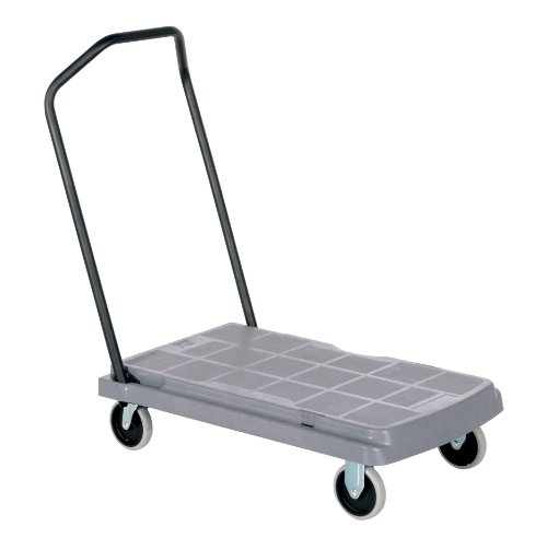 Vestil PC-60 Versatile Platform Truck with Fold Down Handle, 600 lbs Capacity, 31-1/2' Length x 20-1/2' Width x 8' Height Deck