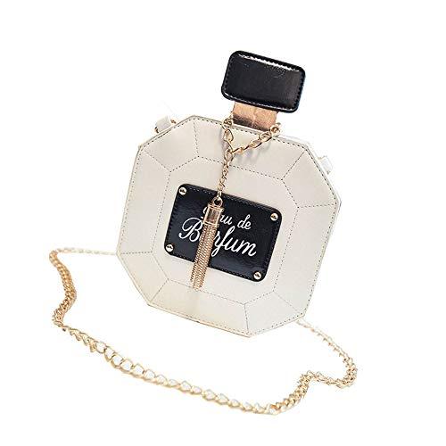 Botella de perfume de moda pequeño bolso redondo mini cadena Crossbody bolso hombro pequeño, rosa (Rosa) - 5001033323239