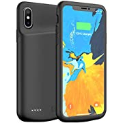 iPhone X/XS / 10 Battery Case, 4000mAh Portable Rechargeable Charging Case Protective Extended Battery Pack Charger Case Compatible with iPhone X/XS / 10(5.8 inch) (Black)