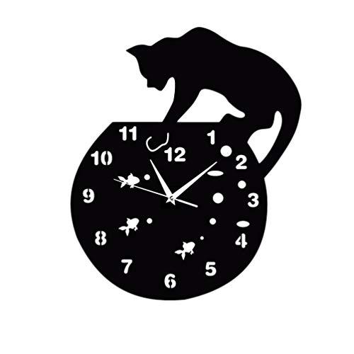 VOSAREA Orologio da Parete Orologio da Parete Gatto in Acrilico per arredo casa
