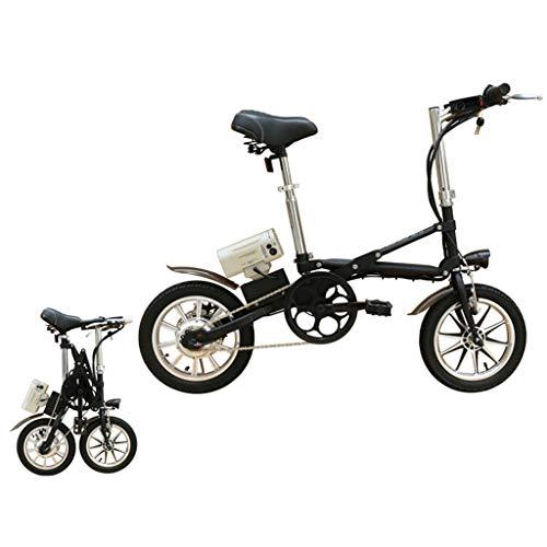 DYG Tragbare elektrisches Fahrrad, Urban Commuter Folding E-Bike, Höchstgeschwindigkeit 25 km/h, 350W / 36V Removable Aufladen Lithium-Batterie,Schwarz