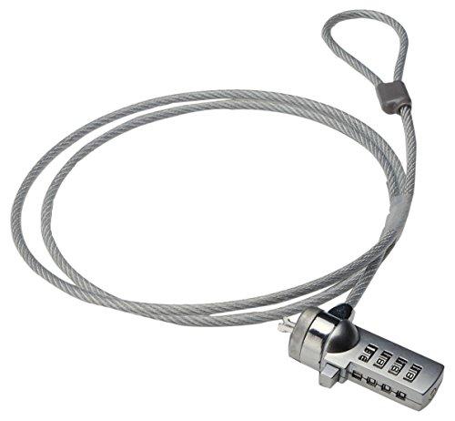 Ewent EW1241 1.5m Plata - Cable antirrobo (Plata, Cerradura con...