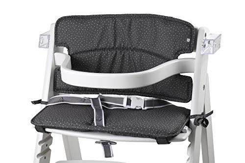 Tinydo® Hochstuhl-Sitzkissen optimal für Roba Sit Up 3 und ähnliche Treppenhochstühle mit Memory-Schaum-Dämpfung Sitzverkleinerer-Auflage für Babystühle rutschfest pflegeleicht (gepunktet)