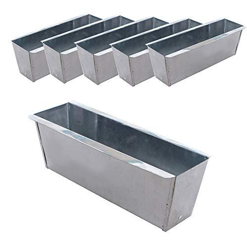 6er Set Pflanzkasten Blumenkasten Balkonkasten für Euro-Paletten Metall verzinkt