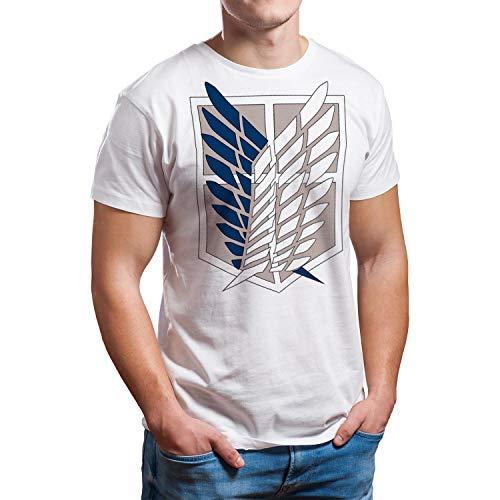 Camiseta Hombre - Unisex Ataque de los Titanes, Legión de Reconocimiento (Blanco, L)