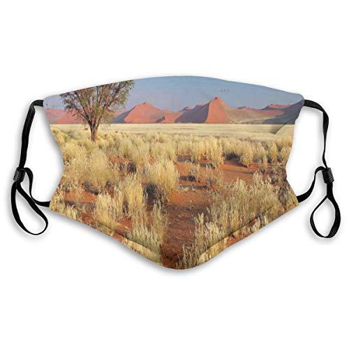 MundschutzAtmungsaktiveGesichtsmundabdeckungStaubdichter,Acacia Tree Desert Sossusvlei Namibia Southern Africa Photo,Gesichtsdekorationen,S