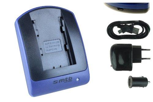 Ladegerät (USB, KFZ, Netz) für Samsung IA-BP210E / HMX-F80, F90. H200, H300. S10, S15. / SMX-F40, F50 s. Liste!
