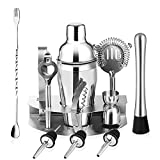 Professional Bar Kit Whisky Cocktail Making Set Cocktail Shaker 750ml Kit-12Pcs Shaker Cocktail Set with Stainless Bar Bar Tool Set Used in Bar, Party or at Home