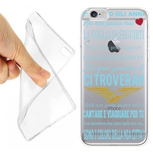 Custodia Cover Case Coro Ultras Lazio per iPhone 6 6S Trasparente