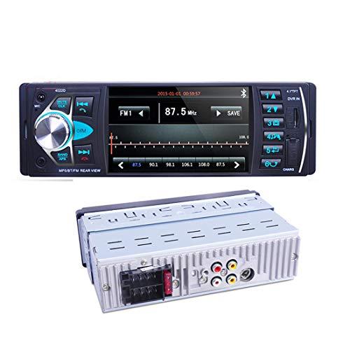 LUOAN AUTO PARTS Autoradio 4022D 4.1'1 DIN autoradio Audio Stereo USB AUX Trasmettitore Radio Lettore Audio FM con autoradio Telecomando