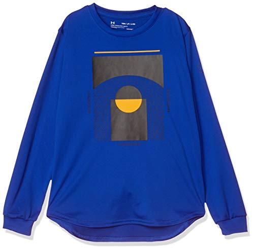 [アンダーアーマー] ベースライン ロングスリーブ (バスケットボール/Tシャツ) 1346809 ボーイズ RYL 日本 YLG (日本サイズ150 相当)