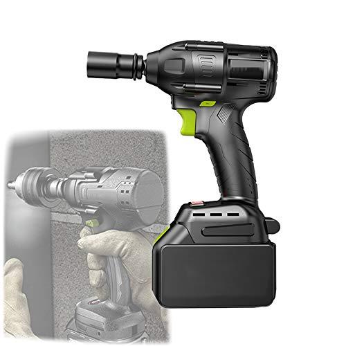 EnweMahi Profesión Llave De Impacto A Bateria,Pistola De Impacto Eléctrico con Accesorios...