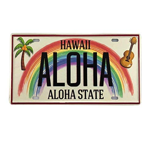 New Retro Vintage License Plate Hawaiian Aloha State Tin Sign for Home Decor Wall Plaque 6X12 Inch Car Vehicle License Plate
